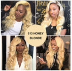 100% Peruvian Ombre Human Hair Extensions 1b / 613 Blonde Color