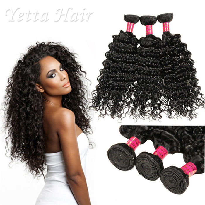 6A Peruvian Virgin Curly Hair Extensions / Soft 100% Human Hair Wefts