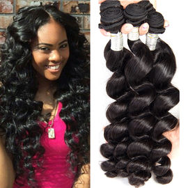Loose Wave Virgin Peru Human Hair Dệt Loose Tóc xoăn Gói 1B